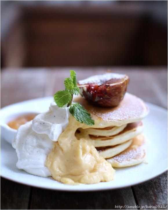 原宿の隠れ家カフェで9月限定「イチジクのパンケーキ」♪