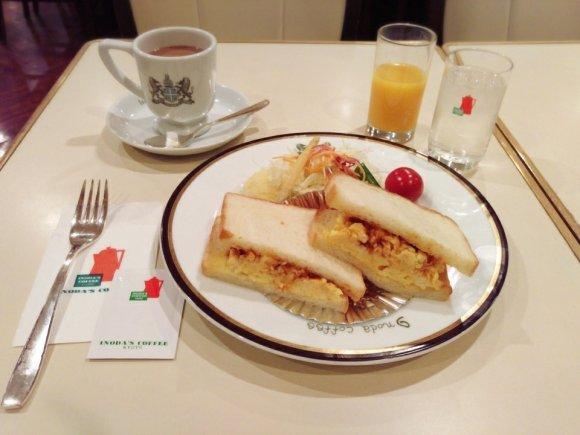 新幹線を降りてすぐ!京都の老舗で関西風玉子サンドモーニング