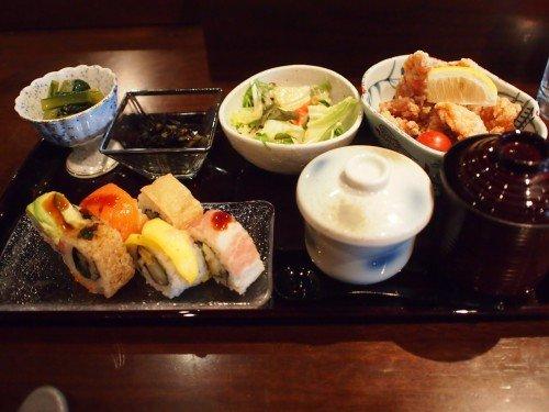 銀座でロール寿司ランチが1000円で!おかずも選べて大満足