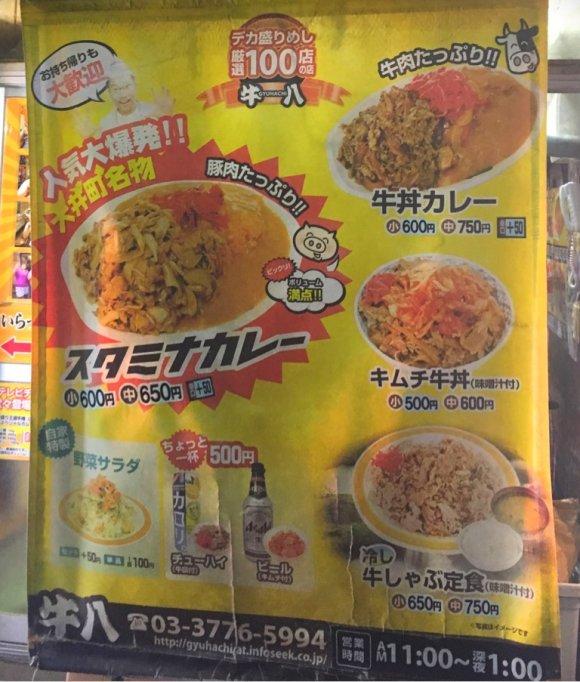 総重量約1キロで800円!甘辛い味付けがクセになる「スタミナカレー」