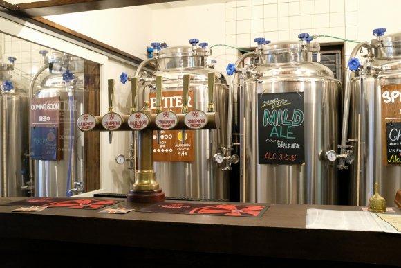 自家醸造のイギリスビールのお得なセットや飲み放題も!浅草のブルーパブ
