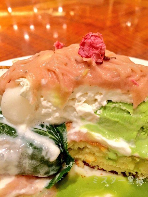 春だ!桜だ!期間限定!桜のモンブランパンケーキを有楽町で