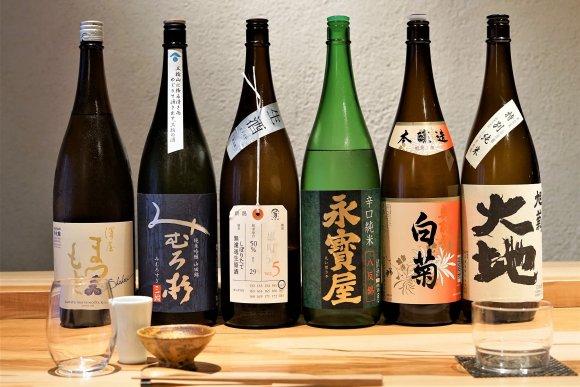 こだわりの日本酒を心ゆくまで楽しめる、日本酒と和食の新店