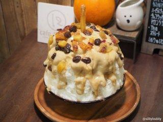 秋冬でも食べたくなる!大阪福島の隠れ家カフェのお芋&かぼちゃのかき氷