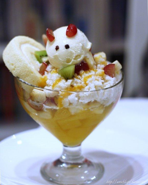 冬でもおいしいカキ氷パフェをCafe VANNIERで♪