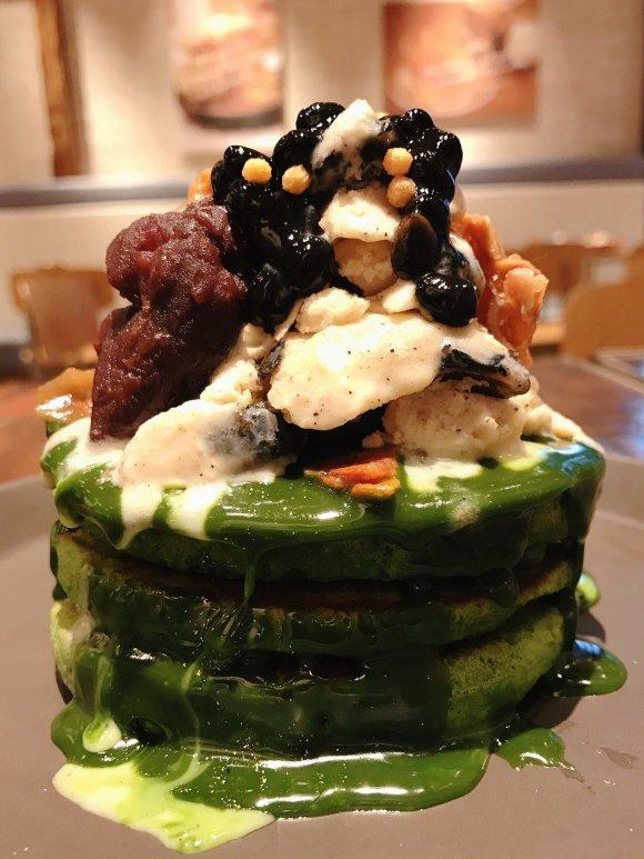 日本の和を存分に楽しむ!国産抹茶・黒豆・小豆・きなこの限定パンケーキ