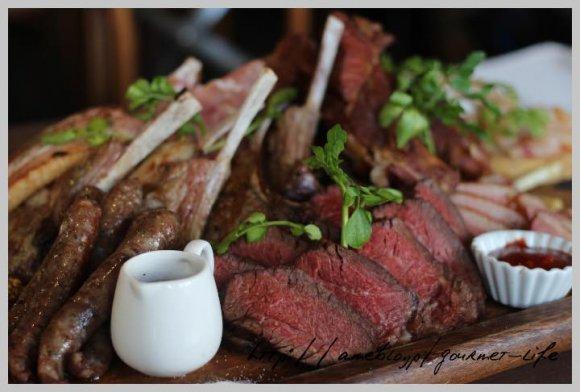 ド迫力の豪華贅沢!肉肉プレート!4990円で味わえる肉三昧フルコース
