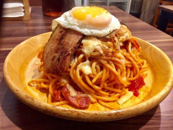 追加料金なしで600gまで増量可能!激安デカ盛りスパゲティ専門店